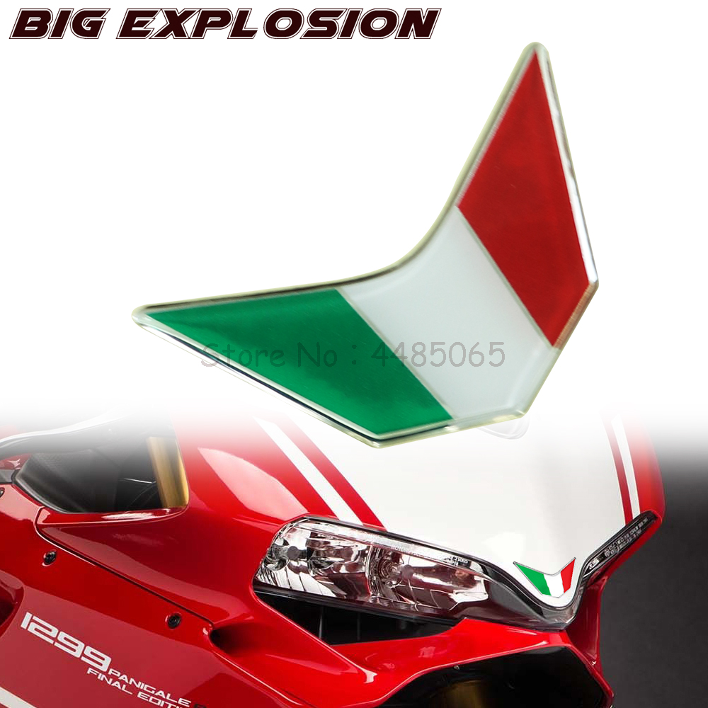 Motorcycle Decals Front Fairing Stickers 3D Italy Sticker Decals For Ducati 959, 969, 1199, 1299 PANIGALE V4 S R SUPERSPORT