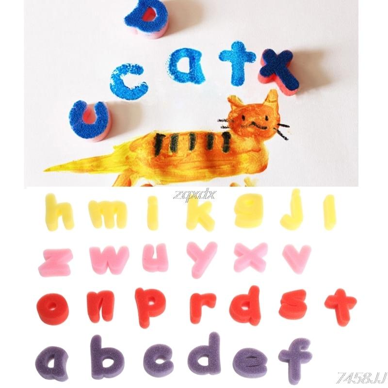 Alphabet Shaped 26 Sponge Letter Set Children Kids Craft Painting Toy Education Whosale&Dropship
