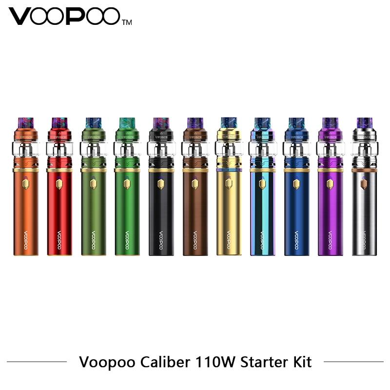 Original Voopoo Caliber Kit 3000mah Vape Pen Kit Max 110w Output with 5ml Uforce Tank U4 U6 Coils VS Prince saber wand original ijoy saber 100 20700 vw kit max 100w saber 100 kit with diamond subohm tank 5 5ml