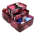 Famous Brand Women Professional Makeup Case Big Cosmetic Makeup Bag Candy Leather Cosmetic Storage Box Toiletry Organizer Bags