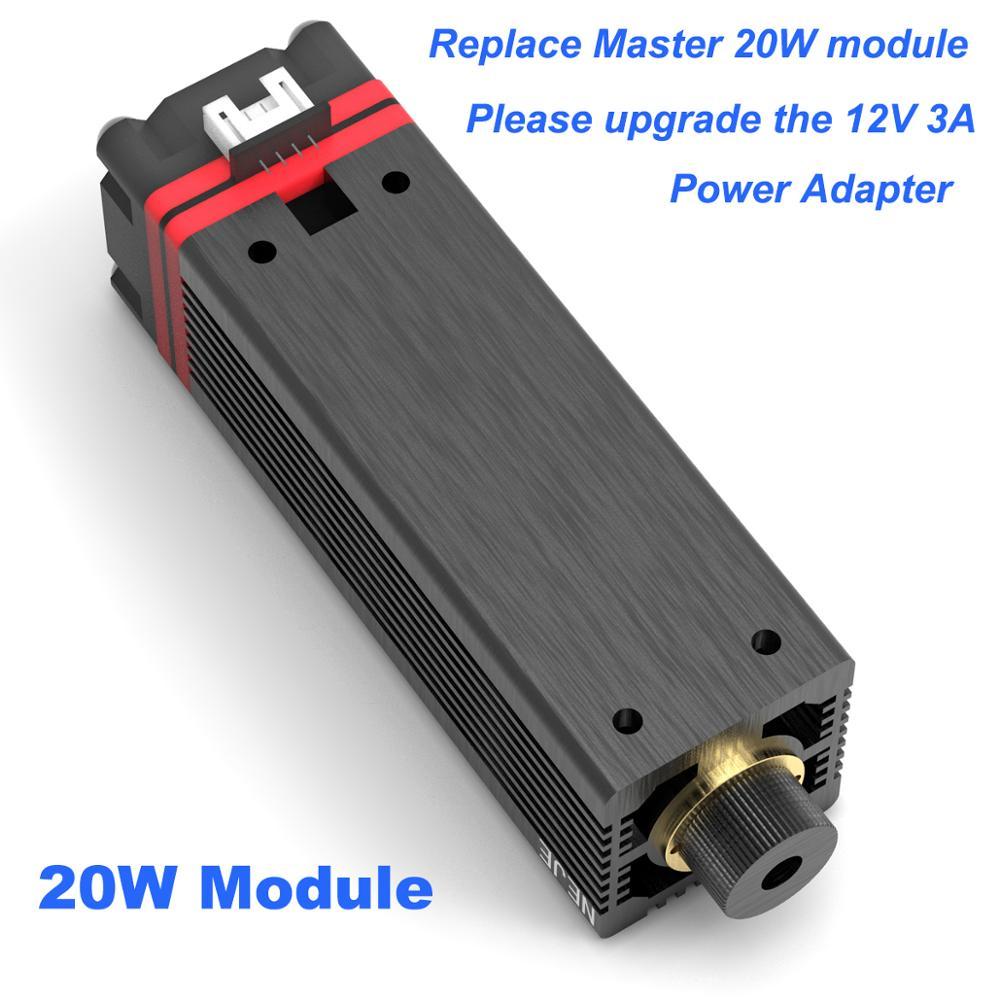 NEJE 20W 12V 3A TTL / PWM Laser Tube Module Cutting Alumina Oxide Metal Engraving For NEJE MASTER Laser Engraving Machine