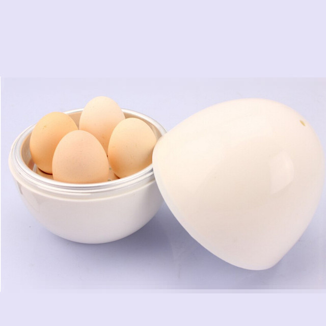 Plastic Egg Shape Microwave Boiler Cooking Tools Kitchen Accessories Boiled Eggs In Oven For