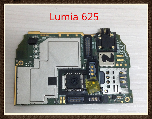 Choose Language ~Good quality Original Motherboard With cable For  Lumia 625 free shipping