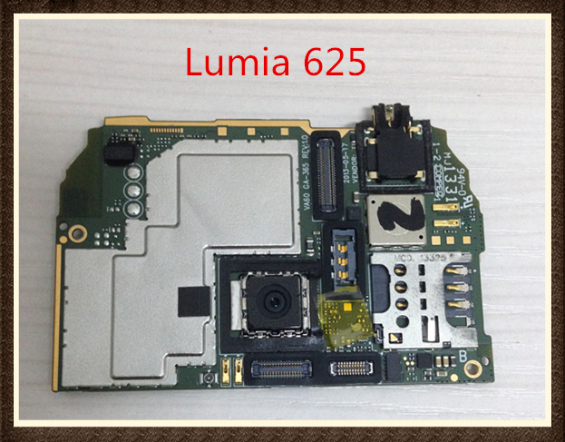 Idioma internacional! buena calidad original placa base con cable para nokia lumia 625 envío gratis