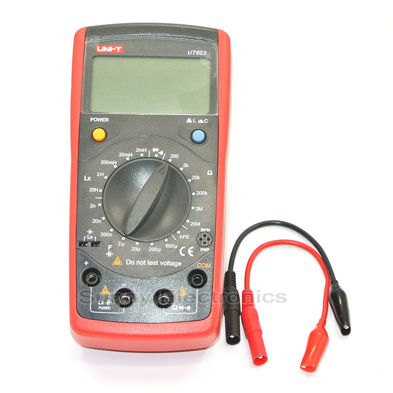 UNIT UT603 multimeter, professional measuring resistance / inductor / capacitor / diode / transistor / Continuity Buzzer. m39010 08 br22ks inductor mr li