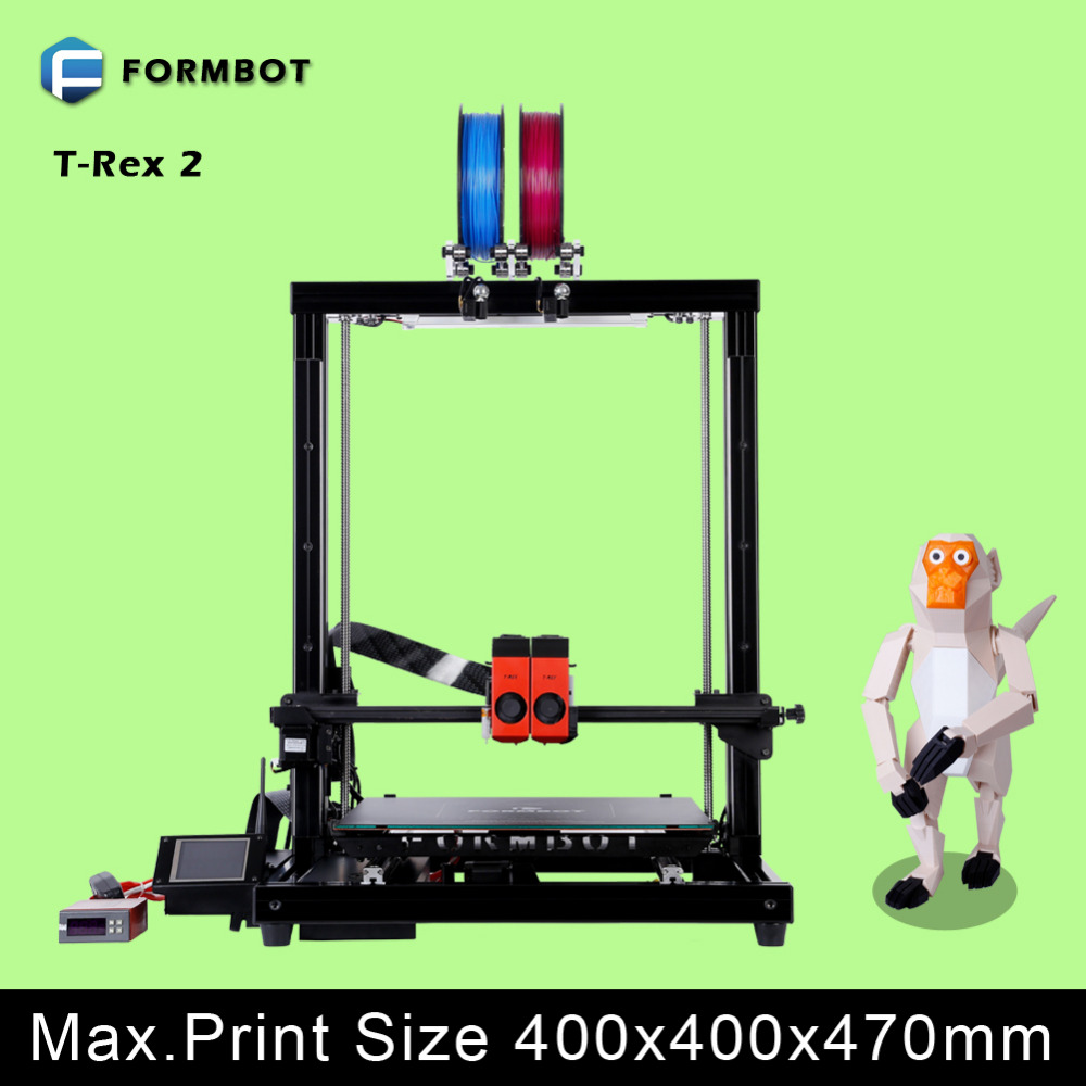 Full Metal Frame Large Build Volume 400400470mm Double Color Printing FORMBOT 3D Printer With Wifi Function In Printers From Computer Office On
