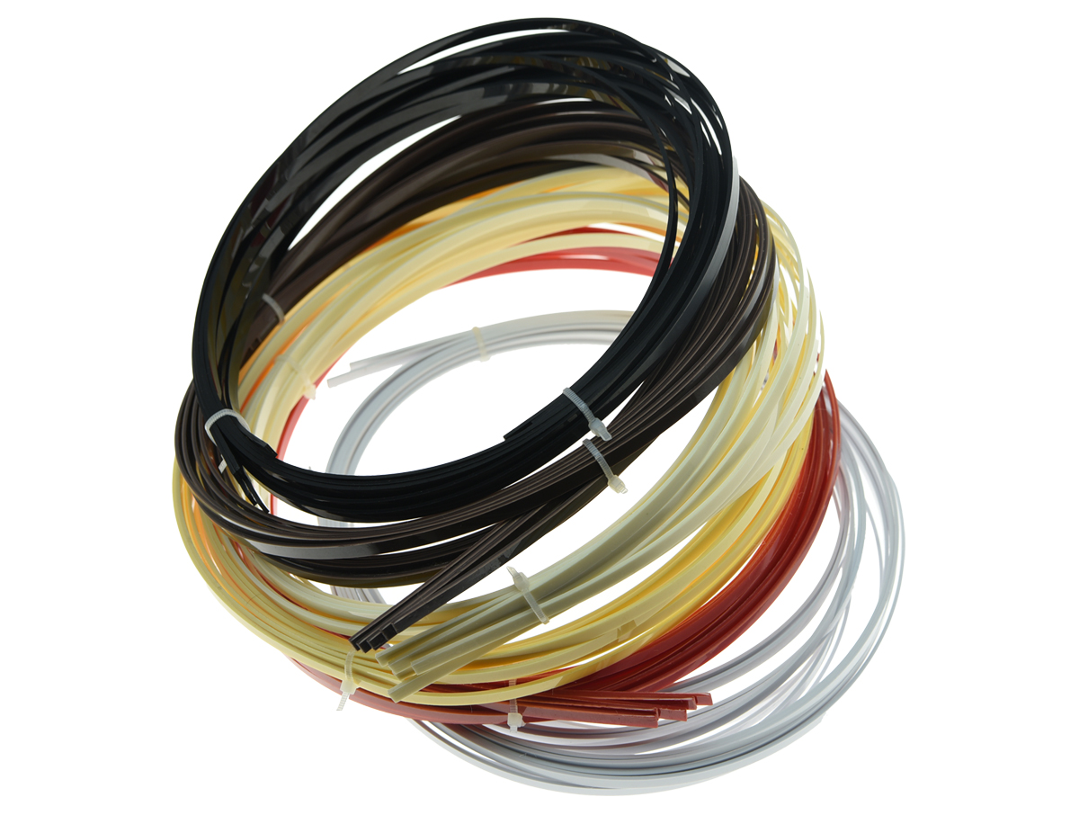 KAISH 5Pcs Guitar Binding Purfling Strips ABS Guitar Binding Parts for Luthiers 1650mm*5mm*1.5mm 6 Colors Available