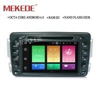 Support Steering Wheel Control Car Media Player For Benz W203 W208 W209 W210 W463 Vito Viano
