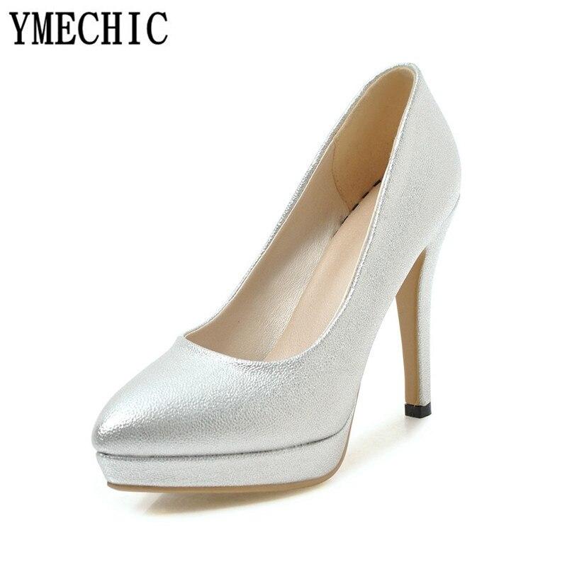 Pink High Heels For Wedding: YMECHIC Fashion Wedding Bridal Shoes Sexy High Heels