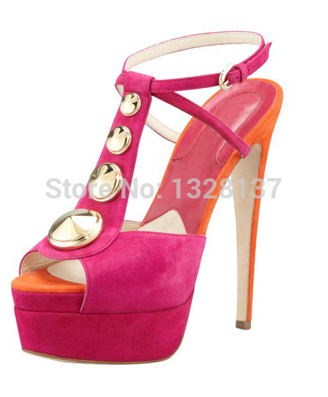 Solid T-Strap Rhinestone summer sandal Open Toe Thin High Heel Sandal Women Fashion Shoes Heel Buckle Strap Unique Shoes