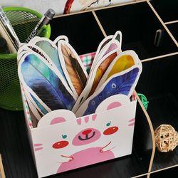 30 шт./партия, милые бумажные закладки Kawaii, винтажные перышки, закладки для книг для детей, школьные, бесплатная доставка материалов