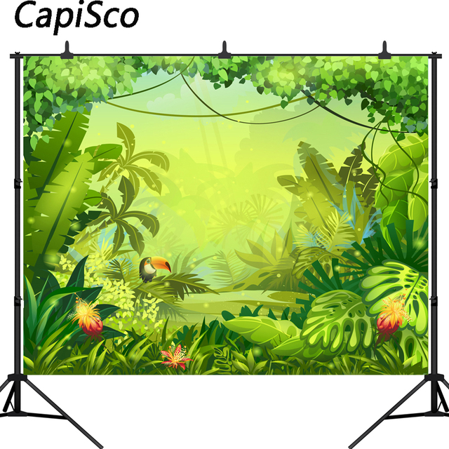 Capisco Jungle safari backdrop Photography Backdrops happy birthday backdrop background Banner birthday Baby shower Backdrop