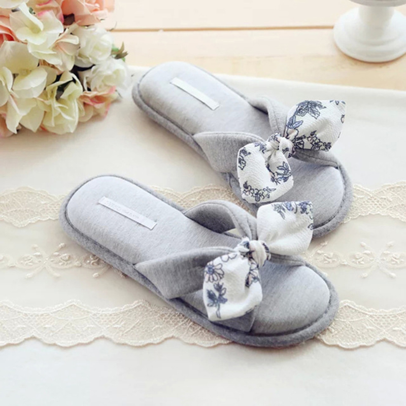100pcs Lot Summer Fresh Fl Bow Indoor Slippers Anese Las Bathroom Non Slip Waterproof Women In From Shoes On