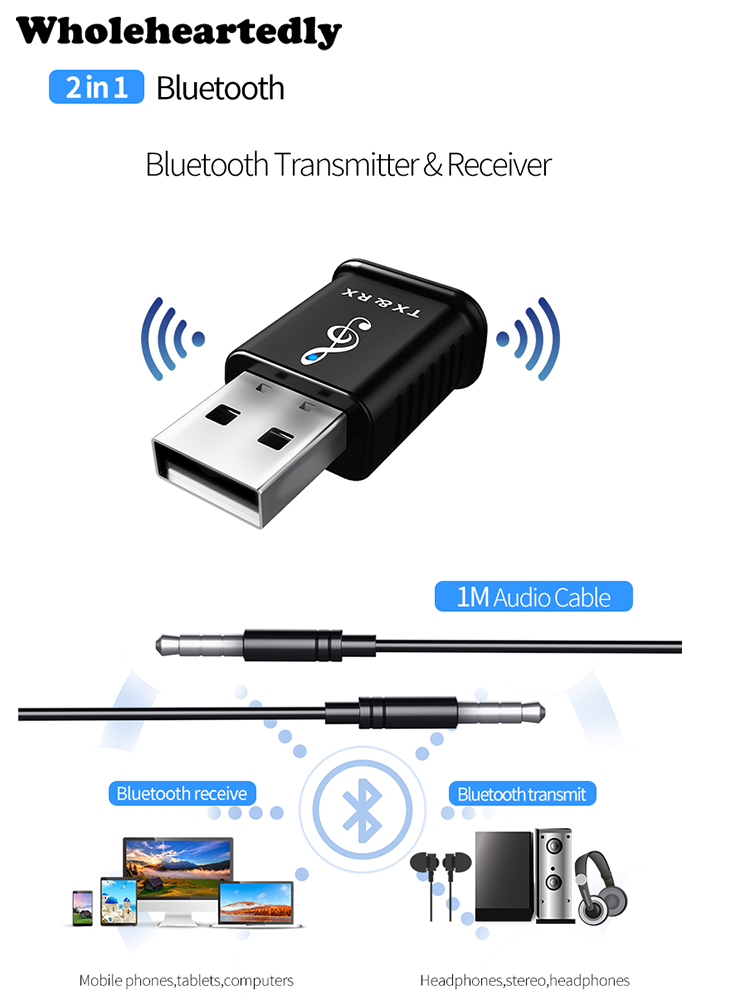 Adapter Wireless Aux Receiver 4.1 Bluetooth Hands-free Car Kit Compatible With Iphone X IPhone 8 8 Plus 7 7plus Headsets Earbuds Car Audio Speaker Mini Home Stereo GM G-MORE Bluetooth Receiver Black