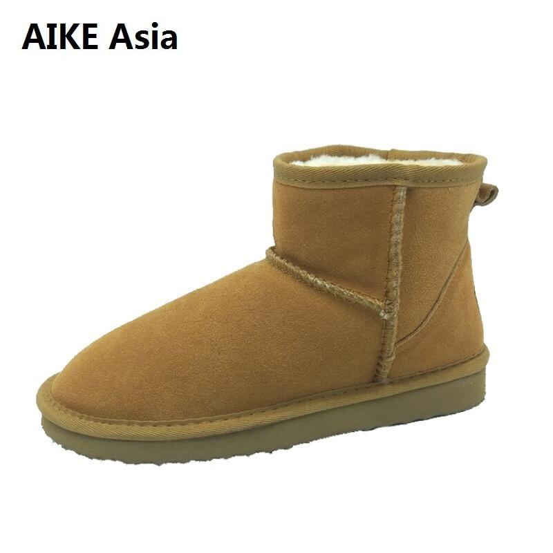 6ba76f71bbe8d Marcas botas de Mujer Australie moda zapatos de Mujer Zapato Mujer botas de  invierno Botas de lluvia botas medias señoras botas de nieve Eur 34 -44