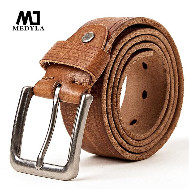 MEDYLA 100 ٪ الجلود والحبوب الكاملة حزام - ملابس واكسسوارات