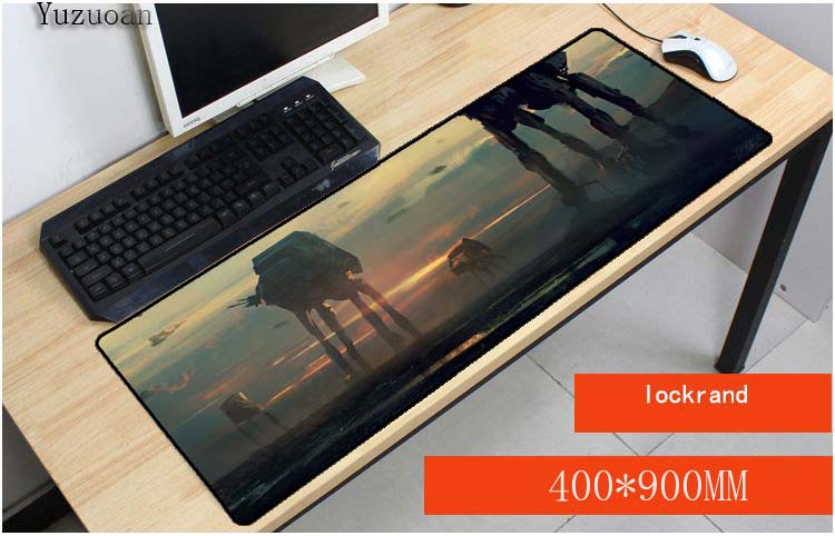 Yuzuoan Free Shipping Star Wars Padmouse 900x400mm pad to Mouse Notbook Computer Mousepad Gaming Mouse pad Gamer to Laptop Mouse