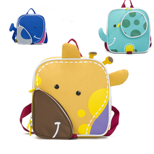 2019 New 3D Cartoon canvas Children Backpack Girls Boys Bagpack kindergarten Schoolbag Animal Kids bookbag School Bags