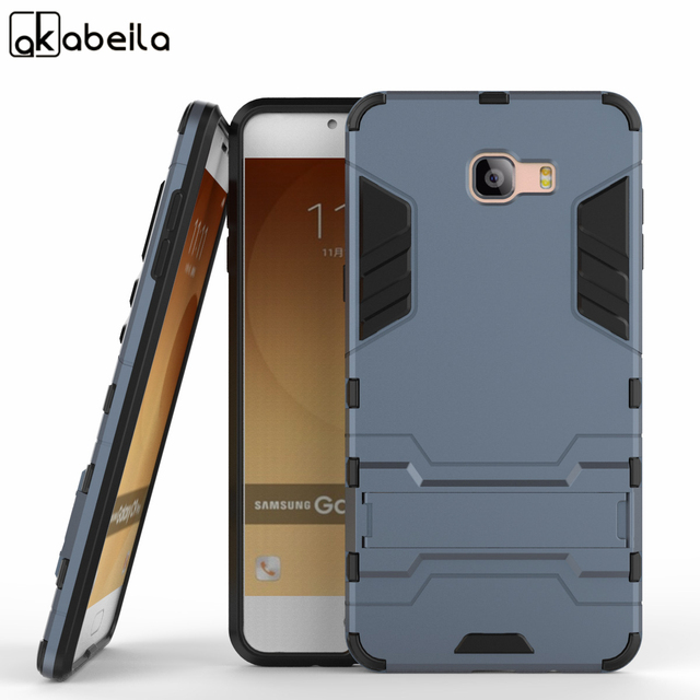 AKABEILA Cases For Samsung Galaxy C9 Pro C9000 SM-C9000 PC TPU Armor Protective Kickstand Back Covers For Samsung C9 Case