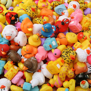 Water-Toy Duck Swimming-Pool Random-Rubber Bathroom 100PCS Multi-Styles