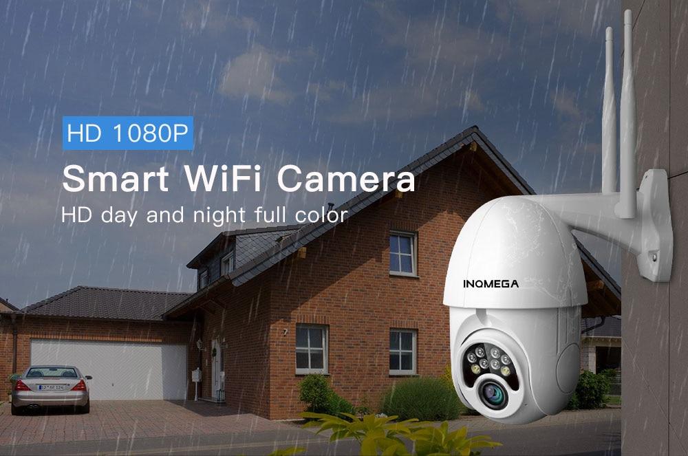 IP Outdoor Wireless Security Camera 1080P CCTV, V380 App, Two WiFi Antenna, Waterproof IP66, Two Way Audio