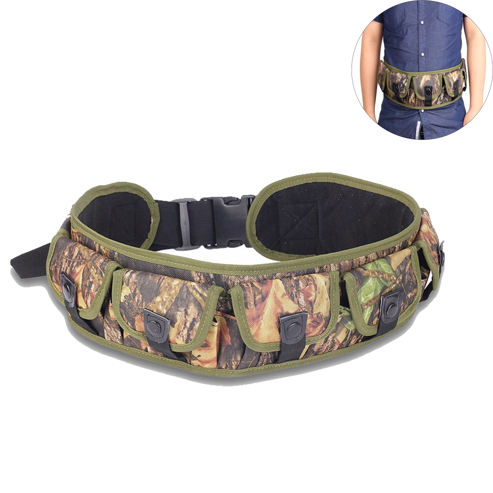 Airsoft Hunting Shooting 20GA/12GA Shotshell Bandolier Ammo Cartridge Waist Belt Pouch Gun Shell Bullet Holder 25/28 Rounds mini kompas sleutelhanger