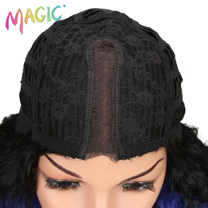 Image 5 - Pelucas de pelo largo negro y morado con encaje frontal para mujeres negras, pelucas de pelo sintético con encaje frontal de 26 pulgadas, resistente al calor
