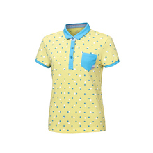 New Dot Printed Comfortable Polo Women's Golf T-shirt Summer Clothing Ladies Short Sleeve Korean Shirt Breathable Leisure Sports