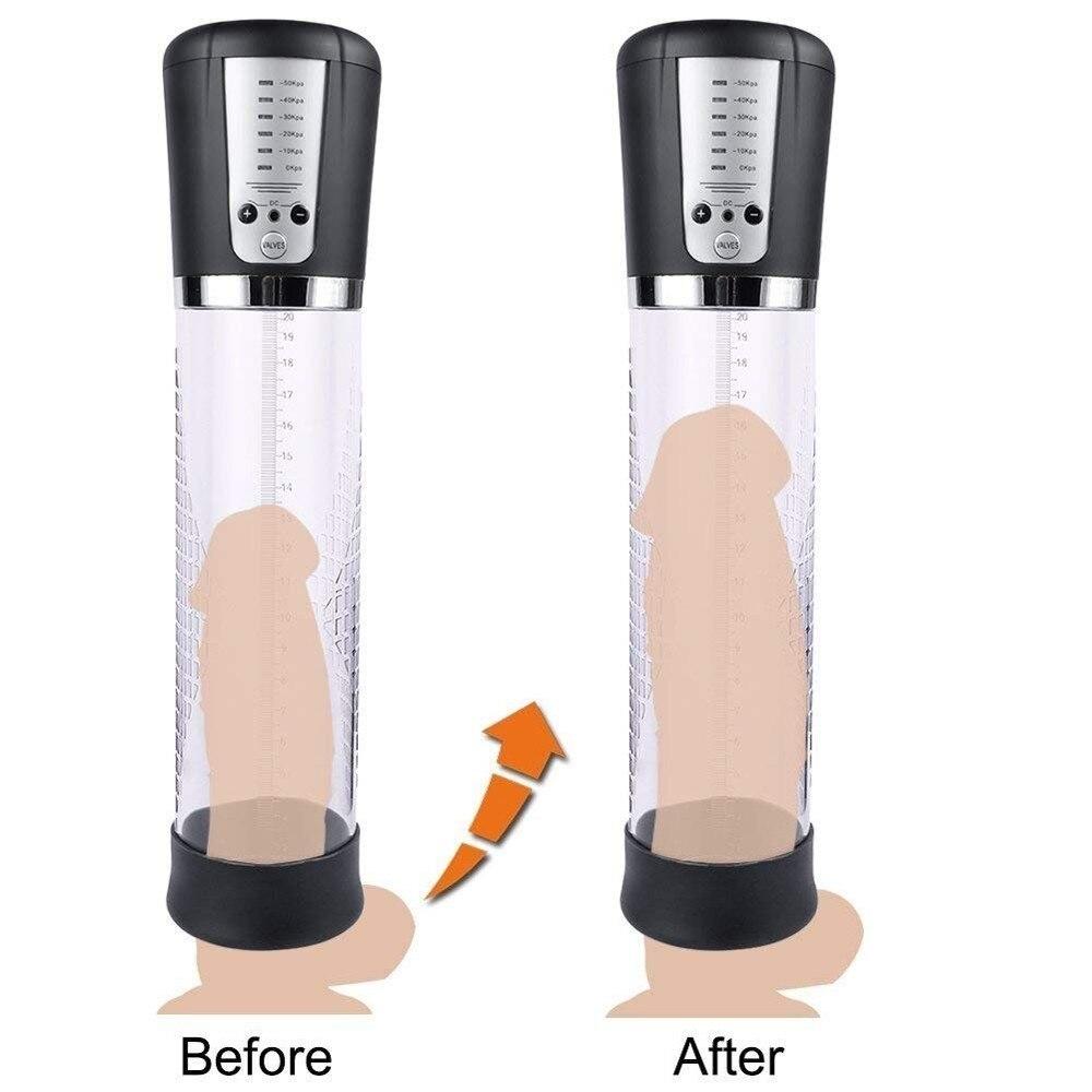 Electric Peni-s Growth Pump,Strong USB Rechargeable Automatic Penile Enlargement Vacuum Pump Male Dick Pro Extender Enlarger