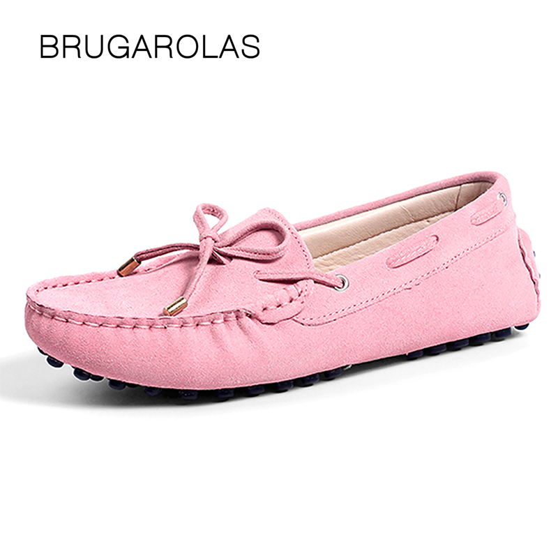 2018 Shoes Women 100% Genuine Leather Women Flat Shoes Casual Loafers Slip On Women's Flats Shoes Moccasins Lady Driving Shoes cyabmoz 2017 flats new arrival brand casual shoes men genuine leather loafers shoes comfortable handmade moccasins shoes oxfords
