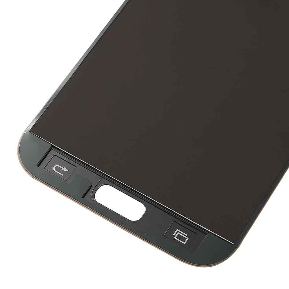 100% prueba trabajo pantalla LCD para el modelo samsung galaxy A7 2017 pantalla LCD A720 SM-A720F A720M LCD MONTAJE DE digitalizador con pantalla táctil