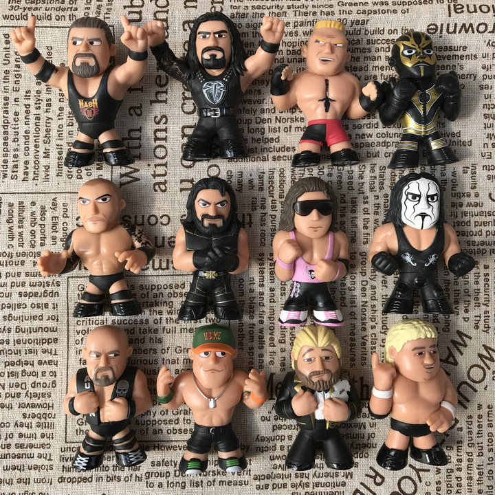 Original Funko Mystery Minis: World Wrestling Federation Fighters Cena, STING Vinyl Figures Collectible Model Loose Toys