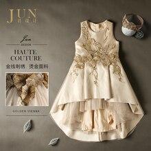 2017 Brand Girls Dresses Wedding Dress Custom Size Dress Handmade Irregular Princess Costume Luxury Evening Pageant