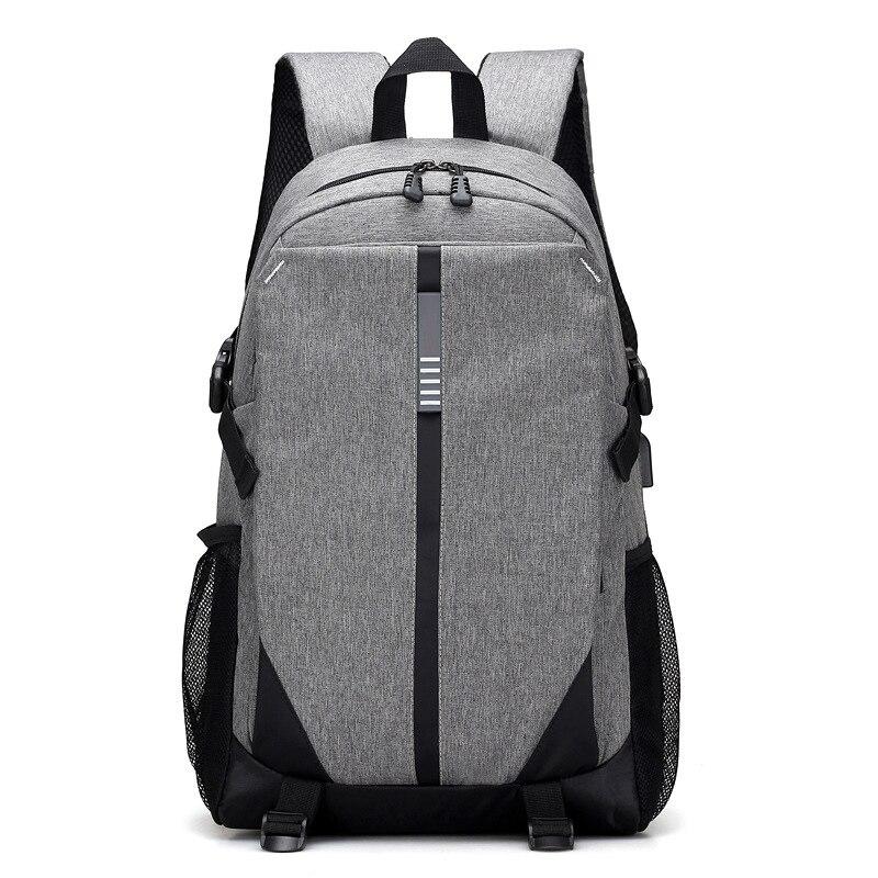 Fashio Backpacks USB Charging Travel Business Mochila Masculina Laptop Backpack Men Scho ...