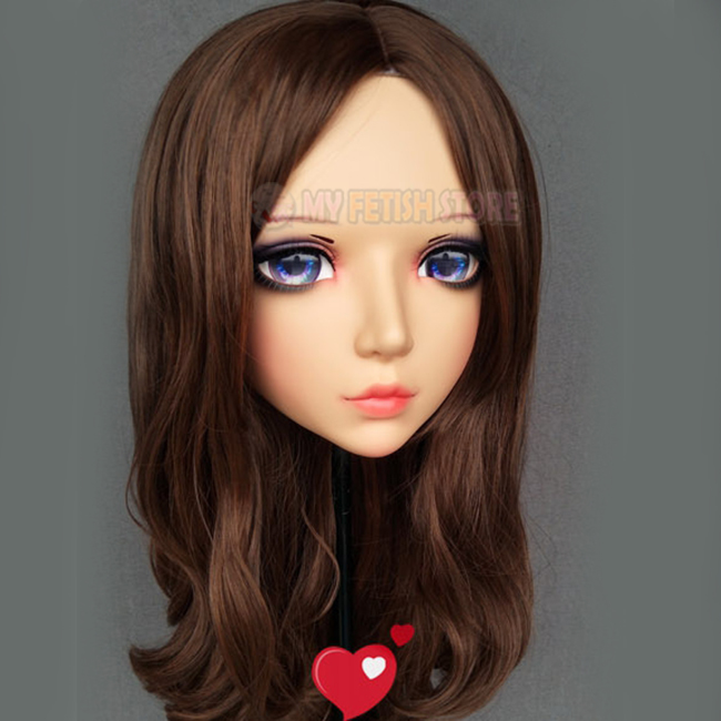 female Sweet Girl Resin Half Head Kigurumi Mask With Bjd Eyes Cosplay Japanese Anime Role Lolita Mask Crossdress Doll Fixing Prices According To Quality Of Products yan-02 Costumes & Accessories Kids Costumes & Accessories