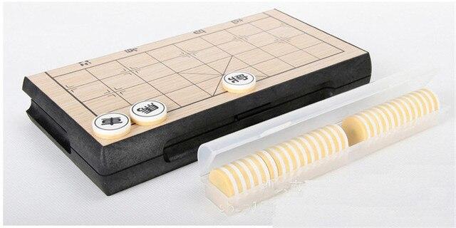 Xiangqi-jeu d'échecs chinois Portable, jeu magnétique pliable, 25x25x2cm, F227 3