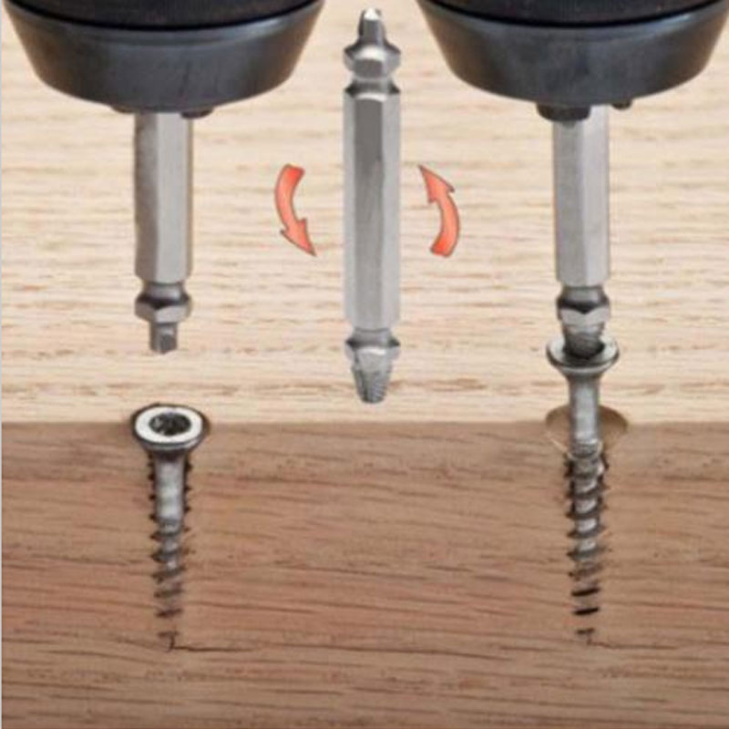 Enthusiastic 4pcs1# 2# 3# 4# Screw Extractor Drill Bits Guide Set Broken Damaged Bolt Remover Double Ended Damaged Screw Extractor P10 Beautiful In Colour Drill Bits