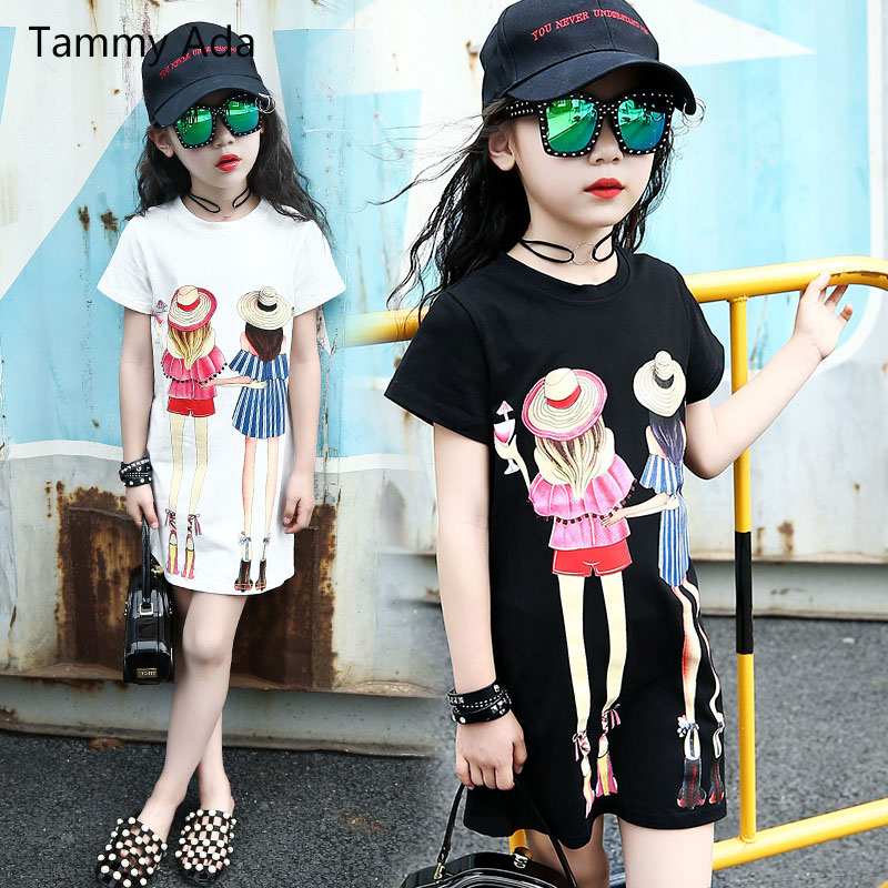 Tammy Girls New Summer Girls Clothes Dress Casual Cotton -7754