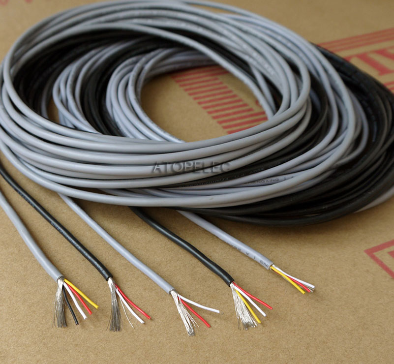 1M 26AWG 2547 UL2547 PVC 2/3/4 Cores Shielded Signal Wire Headphone ...