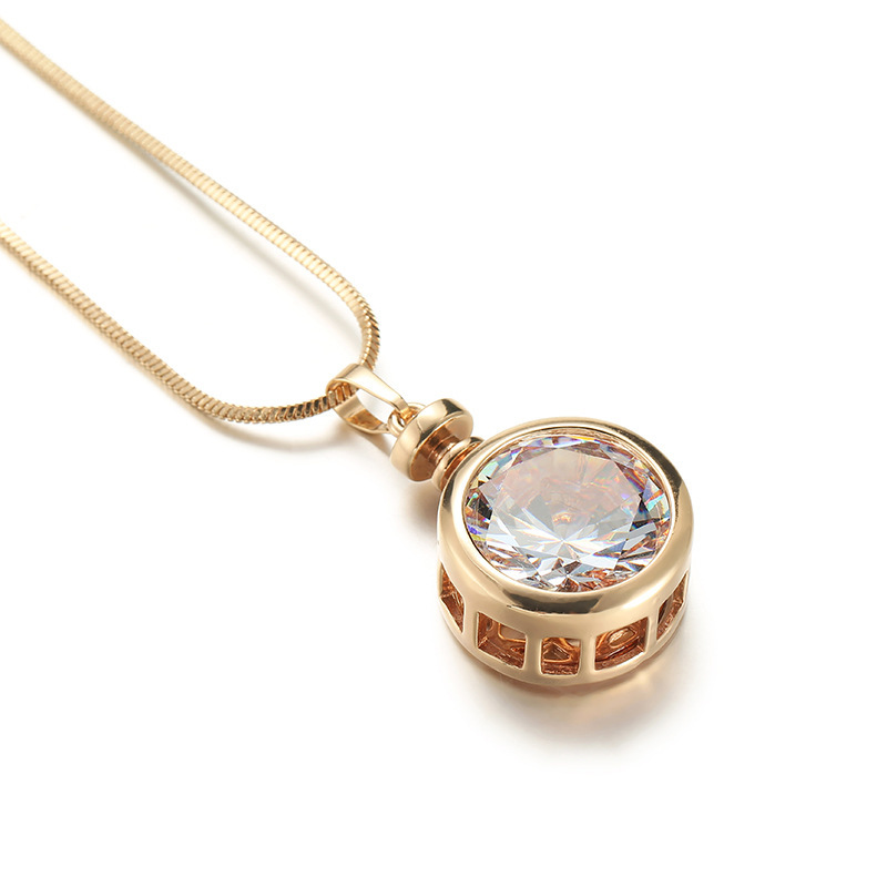 Shefly CZ Zircon Pendant Necklace For Women 2018 New Jewelry With Gold & Silver