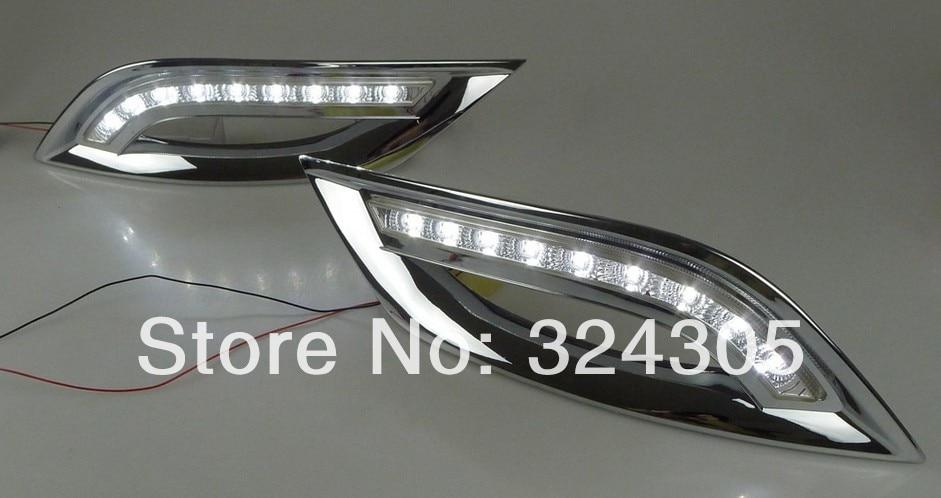 1 компл. специальные для Хендай Соната в G8 (8-й) СИД DRL светодиодные фары дневного света с 9 микросхемы светодиодной подсветкой бесплатная доставка 5,4 Вт
