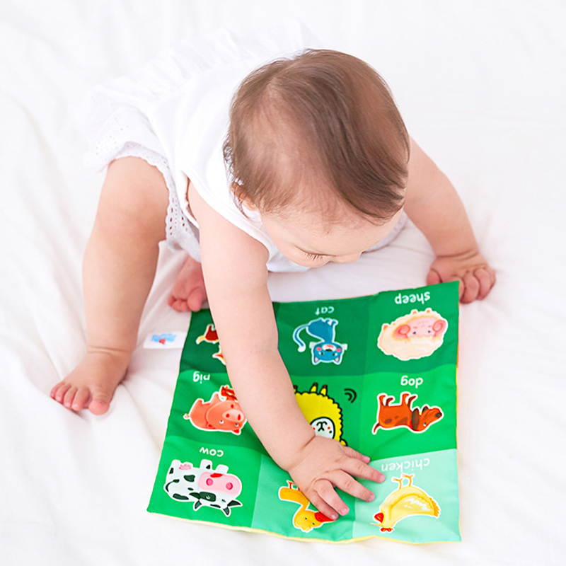 Baby Toys Crinkle Newspaper Soft Cloth Book Activity Toys 0 3 6 12 Months Infant Newborn Early Learning Educational Toys