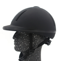 outdoor Horse Riding Helmet Adjustable Size Half Face Cover Protective Headgear Secure Equipment for Questrian Riders