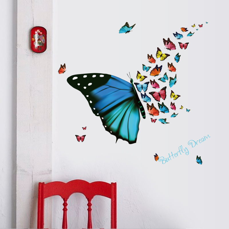 Colorful Butterfly Wall Sticker Butterflies For Decoration DIY Vinyl Home Decor Art Decals 3D Wallpaper Stickers On The Wall