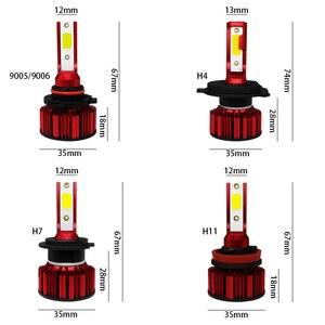 Image 5 - COOLFOX H7 80W 자동 12000Lm h4를위한 LED 램프 hi lo Led 빛 터보 전구 헤드 라이트 9005 9006 H11 COB 칩 먼 Ampul HB4 6000K
