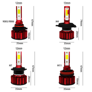 Image 5 - COOLFOX H7 80W LED Lamp for Auto 12000Lm H4 hi lo Led Light Turbo Bulb Headlight 9005 9006 H11 COB Chip Far Ampul HB4 6000K