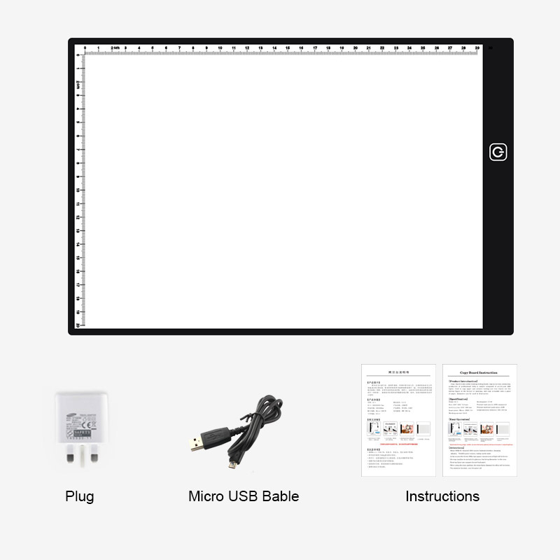 Clipboard A4 Led Stencil Board Light Box Artist Tracing Drawing Copy Plate Table Gift Discounts Sale
