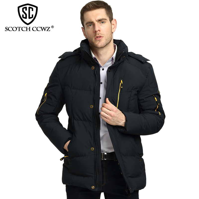 SCOTCH CCWZ Brand 2017 Fashion Winter Jacket Men Parkas Warm Thick Jackets And Coats For Men Clothing Outerwear High Quality 915 new arrival winter jacket men fashion brand clothing casual jackets and coats for male warm thick cotton pad men s parkas m 4xl