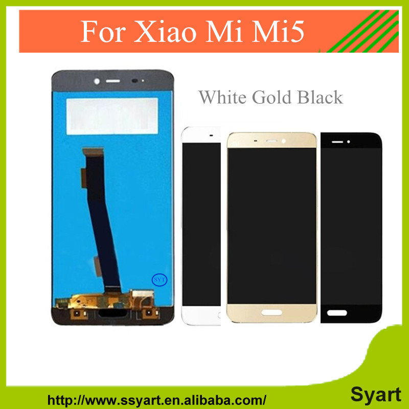 10PCS New Repair Parts For xiaomi mi 5 m5 mi5 LCD Display + Touch Screen Digitizer Replacement cell phone Assembly White