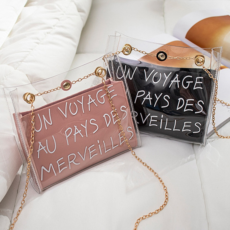 Shoulder-Bag Chain Mobile-Phone-Packet Messenger Jelly-Color Small Crossbody Etter Fashion
